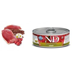 N & D CAT QUINOA URINARY WET FOOD 80GR (6 + 6  ΔΩΡΟ)