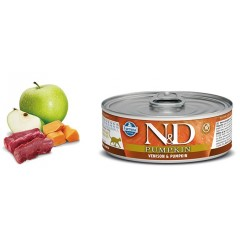 N & D CAT VENISON & PUMPKIN WET FOOD 80GR (6 + 6 ΔΩΡΟ)