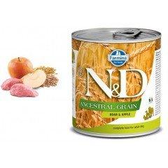 N & D LG WET BOAR & APPLE 285GR (1 + 1 ΔΩΡΟ)