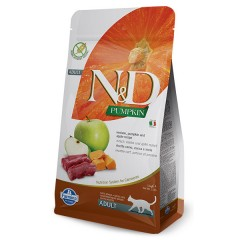 N & D CAT VENISON PUMPKIN & APPLE 1,5KG