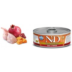 N & D CAT QUAIL & PUMPKIN WET FOOD 80GR (6 + 6 ΔΩΡΟ)
