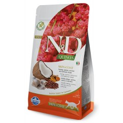 N & D CAT QUINOA SKIN & COAT HERRING 1,5KG