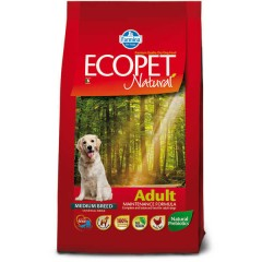 FARMINA ECOPET NATURAL ADULT MEDIUM 12KG + 2KG ΔΩΡΟ