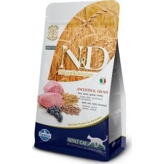 N&D LOW GRAIN LAMB & BLUEBERRY ADULT CAT 1.5KG