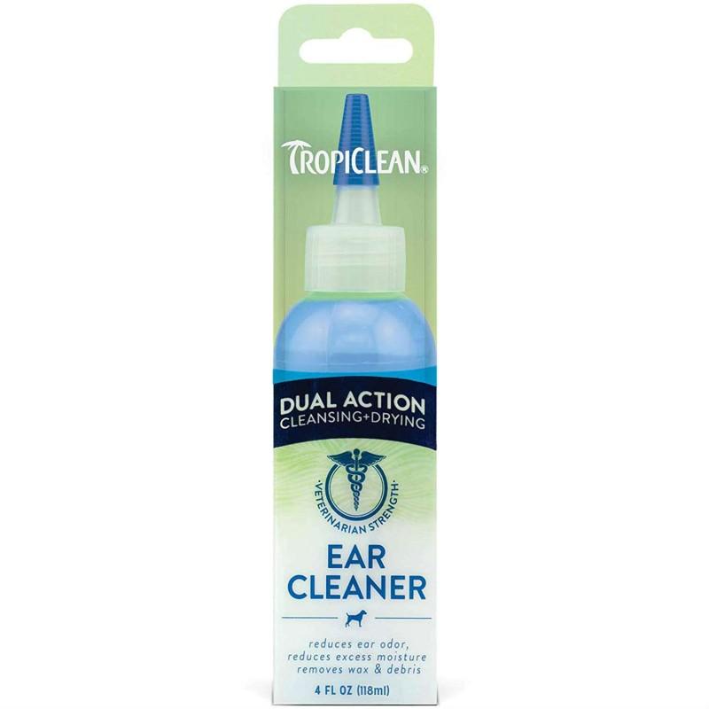 TROPICLEAN EAR CLEANER  DUAL ACTION - ΚΑΘΑΡΙΣΤΙΚΟ ΑΥΤΙΩΝ 118ml