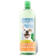 TROPICLEAN FRESH BREATH WATER SKIN & COAT 473ML
