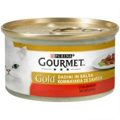 Purina Gourmet Gold  Κομματάκια Σε Σάλτσα Με Βοδινό 85gr