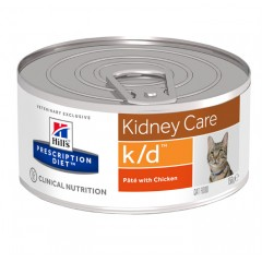 Hill's Prescription Diet k/d Kidney Care Για Γάτες Με Κοτόπουλο 156gr