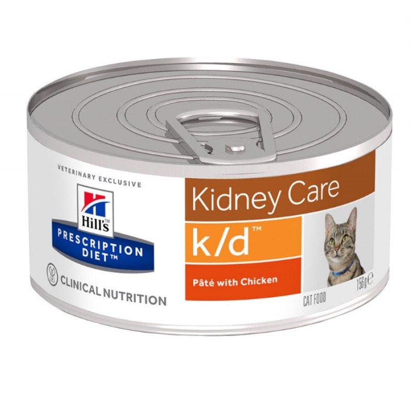 Hill's Prescription Diet k/d Kidney Care Για Γάτες Με Κοτόπουλο 156gr