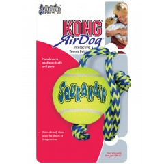 Kong AirSqueaker Tennis Ball With Rope