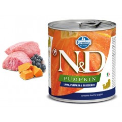 N & D PUMPKIN WET LAMB & BLUEBERRY PUPPY 285GR (3 + 3 ΔΩΡΟ)