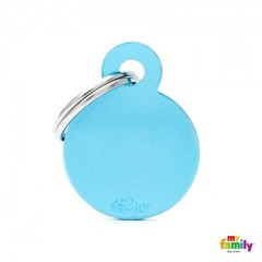 MY FAMILY BASIC LIGHT BLUE ROUND SMALL TAG 3X2CM
