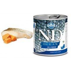 N & D OCEAN WET CODFISΗ & PUMPKIN PUPPY 285GR (1 + 1 ΔΩΡΟ)