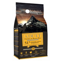 BLACK OLYMPUS ADULT MEDIUM CHICKEN & BROWN RICE 2kg