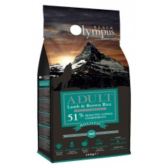 BLACK OLYMPUS ADULT MEDIUM LAMB & BROWN RICE 2kg