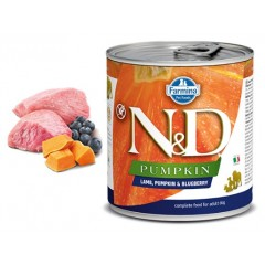 N & D PUMPKIN WET LAMB & BLUEBERRY 285GR (3 + 3 ΔΩΡΟ)
