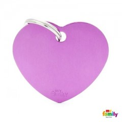 MY FAMILY BASIC PURPLE HEART LARGE TAG 4X2CM