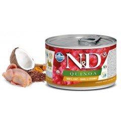 N & D QUINOA WET SKIN & COAT QUAIL 140GR (3 + 3 ΔΩΡΟ)