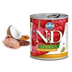 N & D QUINOA WET SKIN & COAT QUAIL 285GR (3 + 3 ΔΩΡΟ)