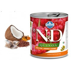 N & D QUINOA WET SKIN & COAT HERRING 285GR (3 + 3 ΔΩΡΟ)
