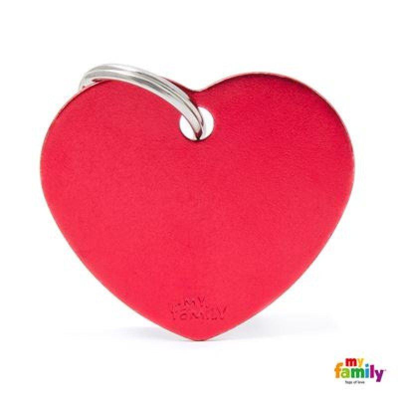 TAYTOTHTA MY FAMILY BASIC RED HEART LARGE TAG 4X2CM ΤΑΥΤΟΤΗΤΕΣ