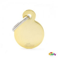 MY FAMILY BASIC GOLD ROUND SMALL TAG 3X2CM