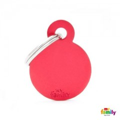 MY FAMILY BASIC RED ROUND SMALL TAG 3X2CM