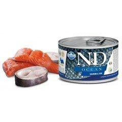 N & D OCEAN WET SALMON & CODFISH 140GR (1 + 1 ΔΩΡΟ)