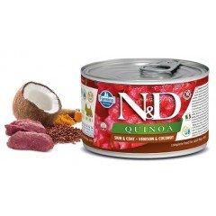 N & D QUINOA WET SKIN & COAT VENISON 140GR (3 + 3 ΔΩΡΟ)