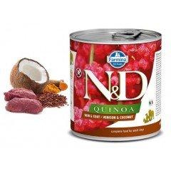 N & D QUINOA WET SKIN & COAT VENISON 285GR (3 + 3 ΔΩΡΟ)