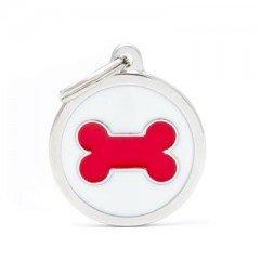 ΤΑΥΤΟΤΗΤΑ ΣΚΥΛΟΥ MY FAMILY CHARMS WHITE CIRCLE RED BONE